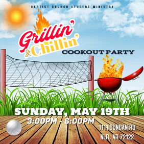 COOKOUT FLYER Instagram-bericht template