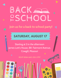 Cool Back to School Party Flyer