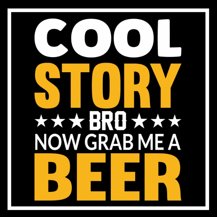 Cool Story Poster Instagram-bericht template
