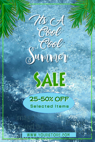 Cool Summer Sale Poster Template