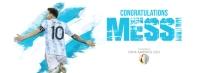 Copa America Winner Cover Facebook Omslag Foto template