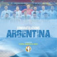 Copa America Winner Post Logótipo template