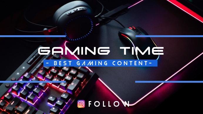 Copia de Gaming Time Isithombe Sekhava Yeshaneli ye-YouTube template