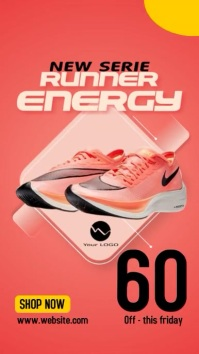 New Energy Runner A Shoe Sale Story Template