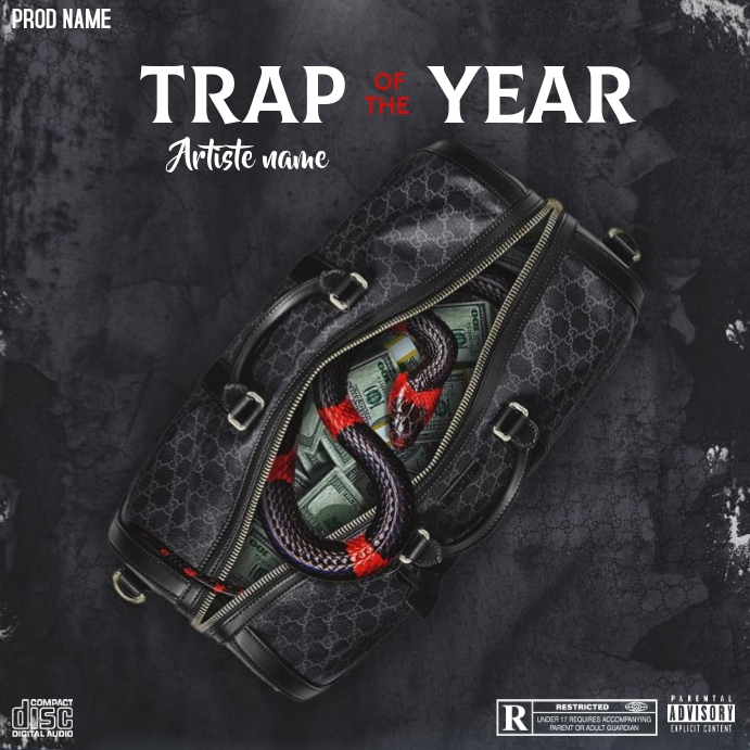 Copie de Trap of the year - CD COVER ART - Instagram na Post template