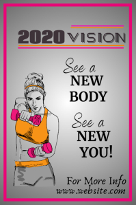 2020 Fitness Poster template