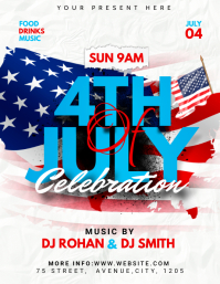 4th of July flyer Volantino (US Letter) template