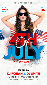 4th of July flyer Instagram Story template