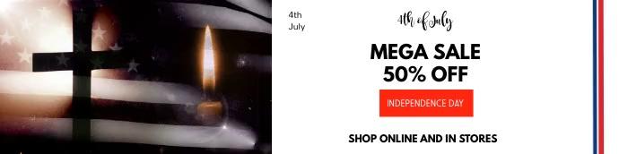4th of july Mega Sale,US independence Transparent 2 stopy × 8 stóp template