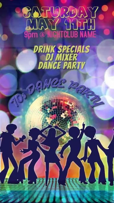 Copy of 70s Dance Party Club Poster Template video
