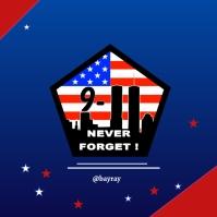 9/11 poster design Instagram-opslag template