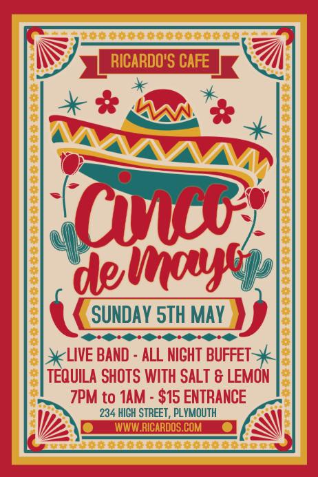 Cinco de Mayo Event Poster