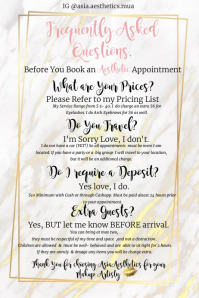AsiaAesthetic Appointment Templete Cartel de 4 × 6 pulg. template