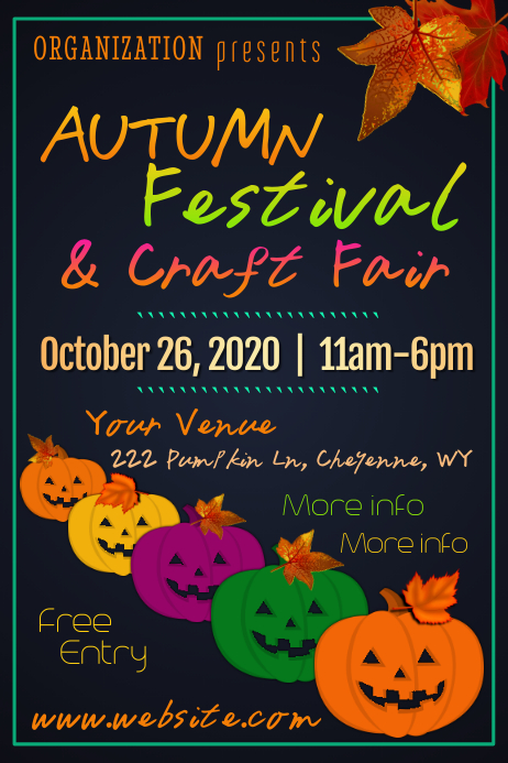 Autumn Festival Poster template