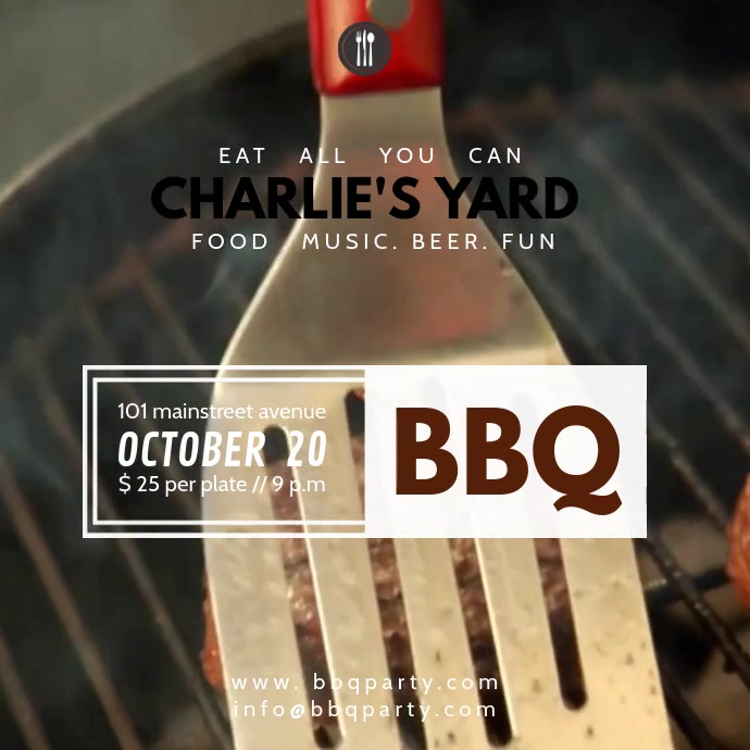 Copy of BARBECUE VIDEO TEMPLATE | PosterMyWall