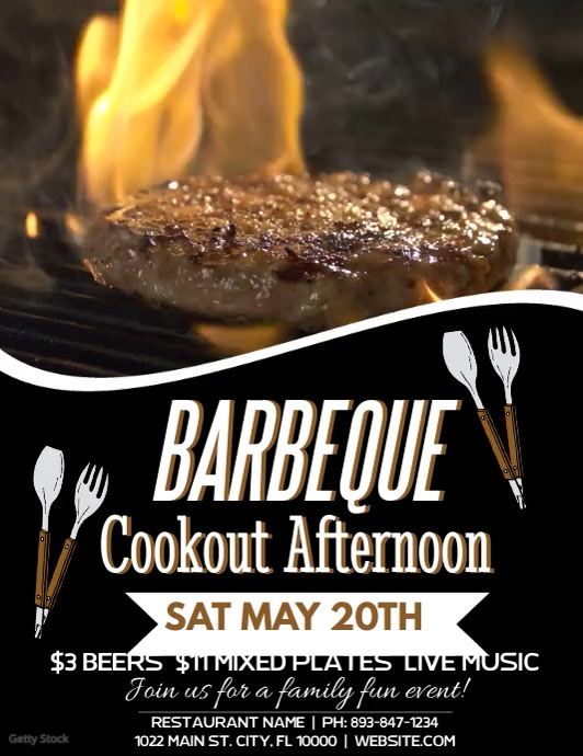 Bbq Flyer (Letter pang-US) template