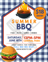 Bbq Flyer (format US Letter) template