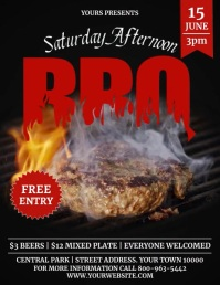 BBQ Flyer (US Letter) template