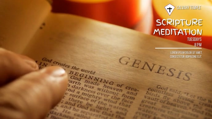 BIBLE STUDY AD TEMPLATE 数字显示屏 (16:9)