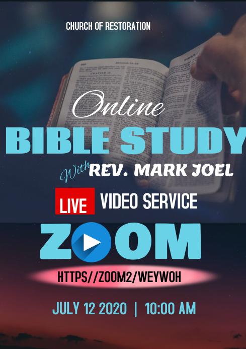 BIBLE STUDY A4 template