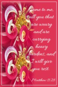 Bible Verse Poster template