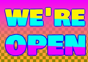 Copy of big we're open or closed sign