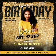 Birthday party flyer template Album Cover