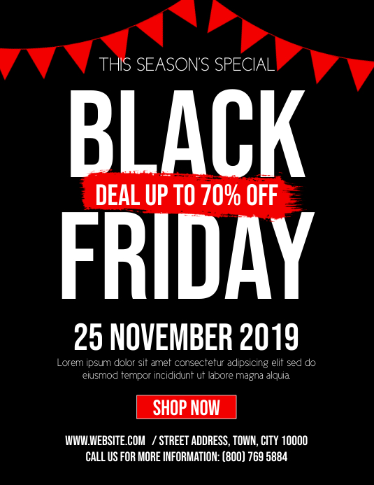 Copy Of Copy Of Black Friday Ads Postermywall