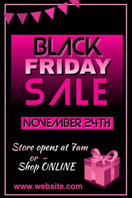 Black Friday Sale Poster 海报 template