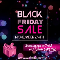 Black Friday Sale Video Square (1:1) template