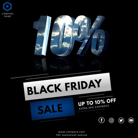 BLACK FRIDAY VIDEO AD Square (1:1) template