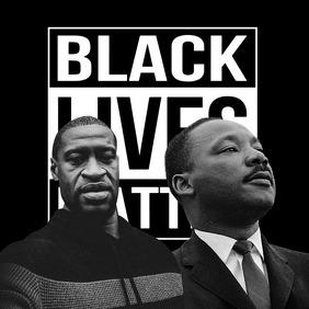 black lives matter Instagram Post template