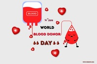 Blood donation Póster template