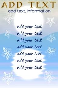 blue winter snowing landscape for list