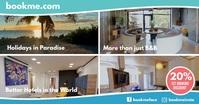 Booking Hotel Promotion Instagram Sale Image partagée Facebook template
