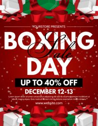 Boxing Day Folder (US Letter) template