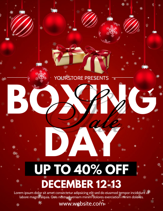 Boxing Day Flyer (US Letter) template