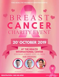 Breast Cancer Pamflet (Letter AS) template