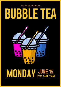 Bubble tea flyer 1 A4 template