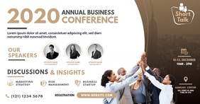 Business Conference Facebook Shared Image template