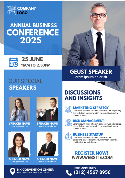 Business Conference Flyer A4 template