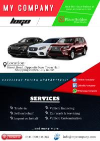 Car Sales Services A4 template