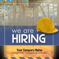 Construction Worker Laborer wanted Instagram template