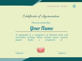 Copy of certificate of appreciation