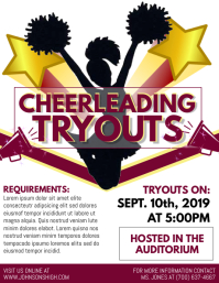 Cheerleading Flyer (US-Letter) template