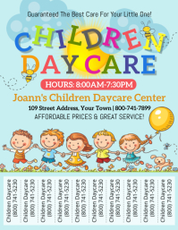 Children Daycare Pamflet (Letter AS) template
