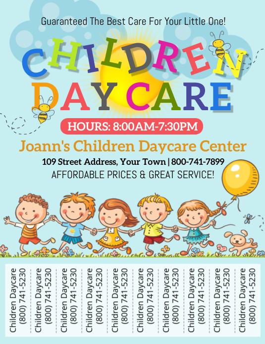Children Daycare 传单(美国信函) template