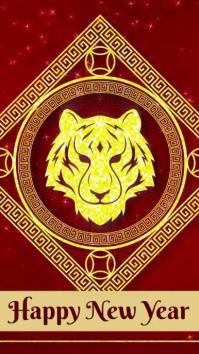 Chinese new year template WhatsApp Status