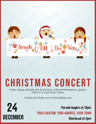 Copy of Christmas Concert Flyer poster Templa