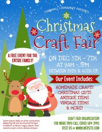Christmas Craft Fair Flyer (US Letter) template